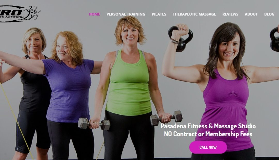 Pasadena Gym Website Design