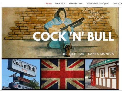 Pub & Restaurant website design – Santa Monica
