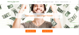 Discount Title Loans Studio City web design
