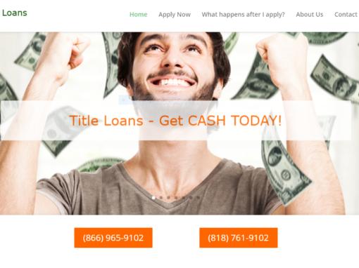 Financial Loan Website Design – Studio CIty
