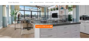 Eden Builders construction website in Woodland Hills