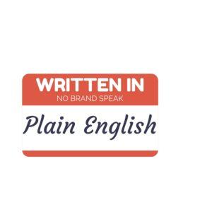 Write in plain English