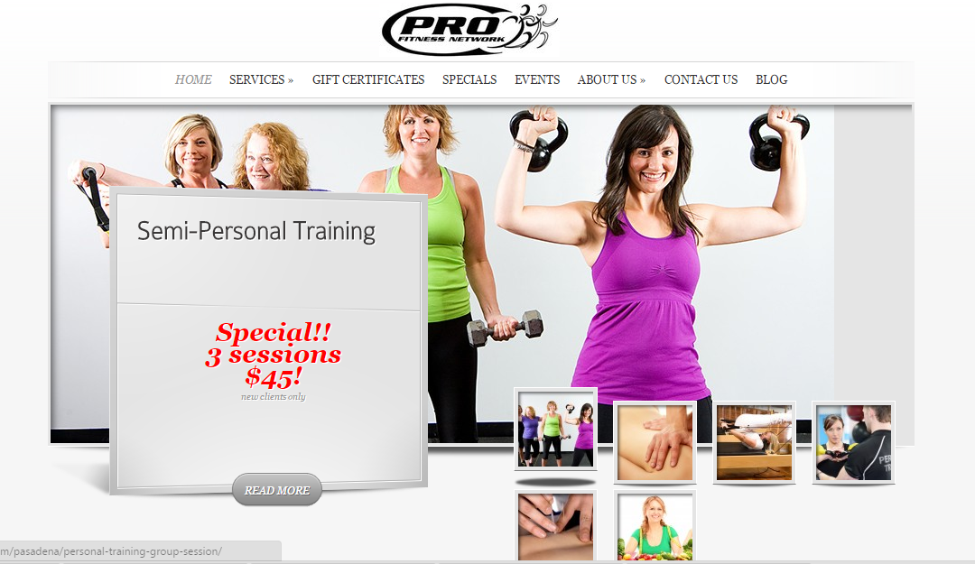 Fitness Gym website design –  Pasadena