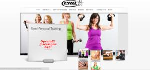Pro Fitness Network Gym Pasadena website