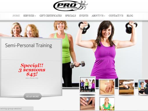 Fitness Gym website design – Pasadena