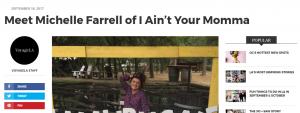Voyage LA Magazine article featuring Michelle Farrell