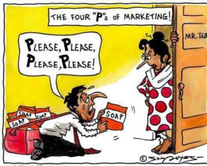 4 ps of marketing joke - please, please, please, please