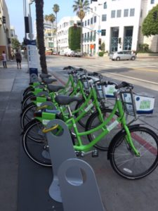 Hulu bike share station in Santa Monica