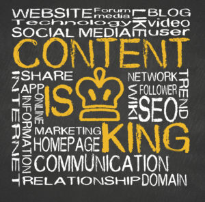 content is king on websites