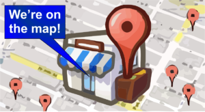 Local business map listing on google maps