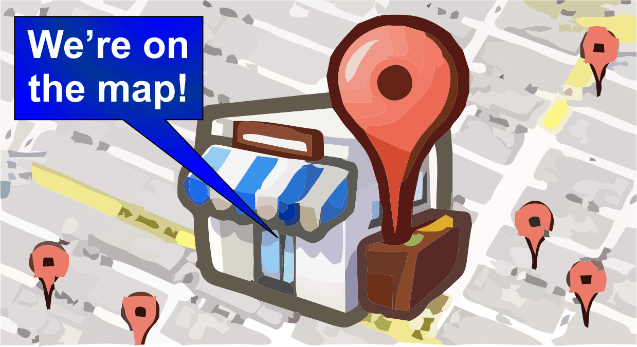 Local business listing map