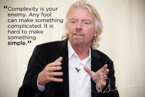 richard branson quote - complexity is your enemy, any fool can make something complicated, It is hard to make something simple