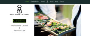 Marys Fine Catering Website screenshot