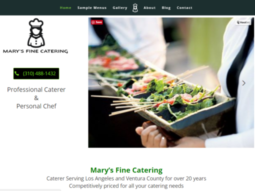 Website Design for a Santa Monica Chef