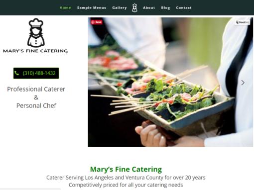 Website Design for a Santa Monica Chef