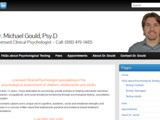 Web Design for Psychologist in Sherman Oaks