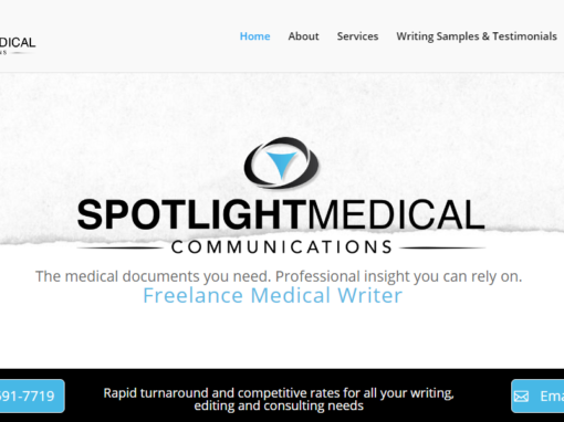Website Built for a Medical Writer – Valley Village