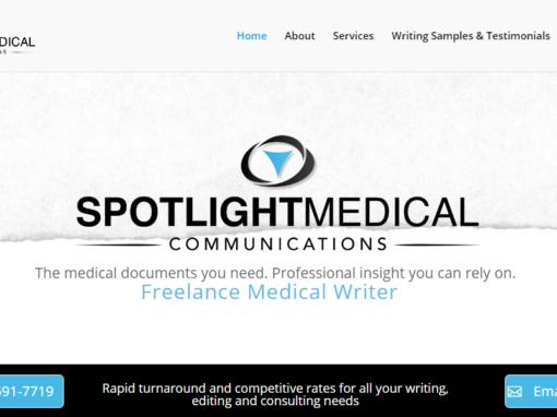 Website Built for a Medical Writer – Valley Village