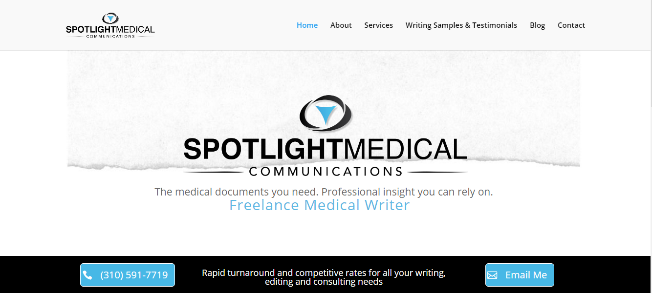 Website Built for a Medical Writer - Valley Village | I Ain\'t Your Momma