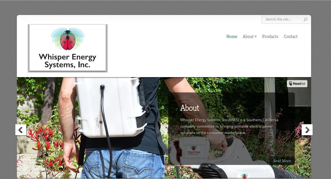 Portable Energy Backpacks Website Design – Sherman Oaks