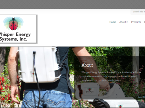 Portable Energy Backpacks Website Design – Sherman Oaks