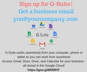 Sign up for google s-suite