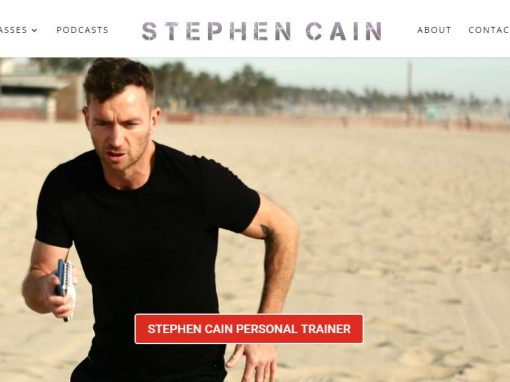 Web Design for a Fitness, Personal Trainer Website in Los Angeles