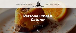 website made for a chef in los angeles