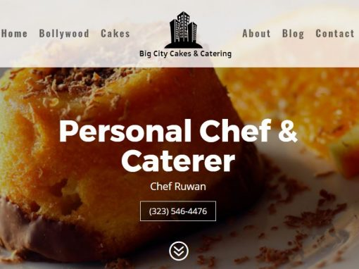 Chef Website Designer Los Angeles