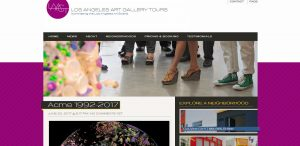 Los Angeles Art Gallery tours website screenshot before redesign by I Ain't Your Momma