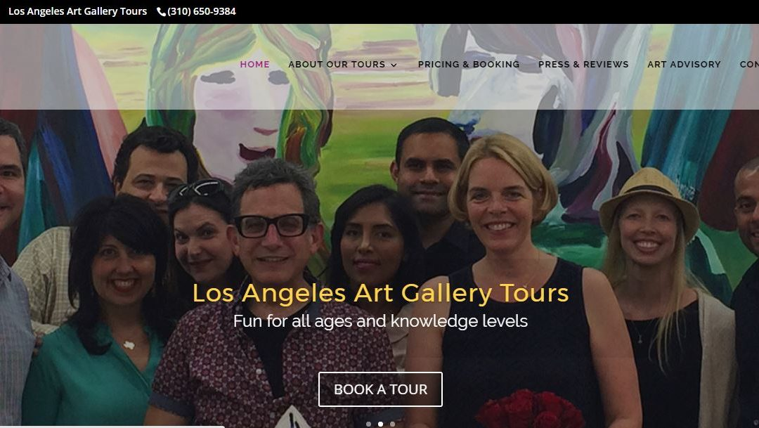 Los Angeles Tour Guide WordPress Website Redesign