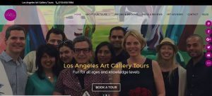 Website redesign for LA ART GALLERY tour guide