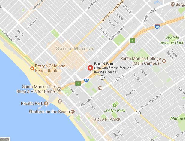 Local Santa Monica business map