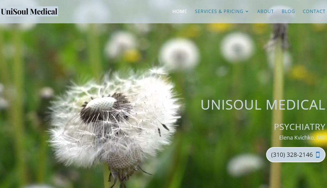 Calming Website Built for Psychiatrist, Torrance, CA