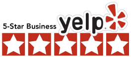 Yelp business account 5 stars