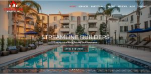 Streamline Builders Website Design & Built Santa Monica