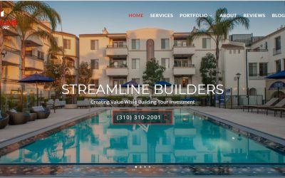 Streamline Builders Construction Website Build Santa Monica