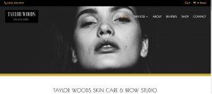 Website designed for Santa Monica Skin & Brow Studio Taylor Woods Skin care