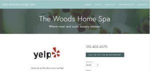 Before webdesign comparison image for THE WOODS HOME SPA
