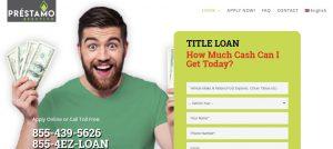 Website designed for title loan company Prestamo Efectivo in Sacramento