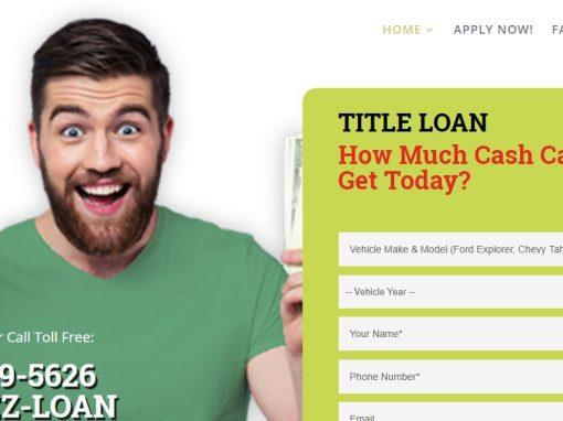 Sacramento Title Loan Website
