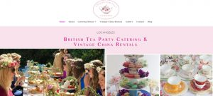 English tea party caterer web design
