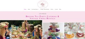 English tea party caterer website design