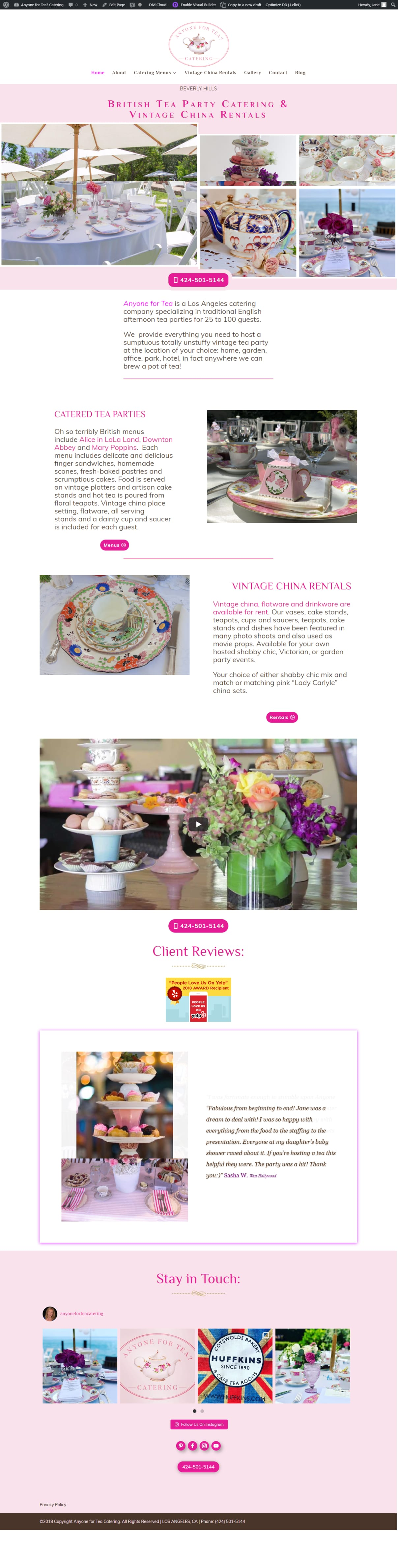 Beverly Hills Website English Tea Party Caterer | I Ain't Your Momma