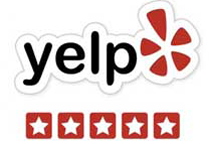 Yelp 5 star review logo