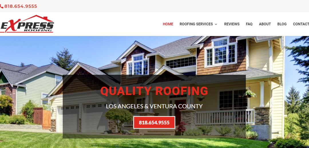 Tarzana Roofing Contractor Website Design