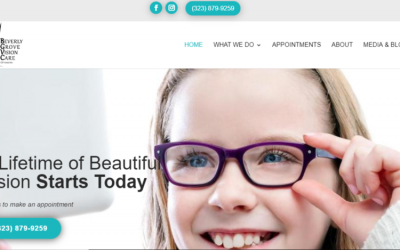 Beverly Grove Optometrist Website Design