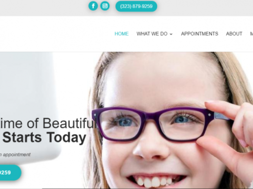 Beverly Grove Optometrist Website Design