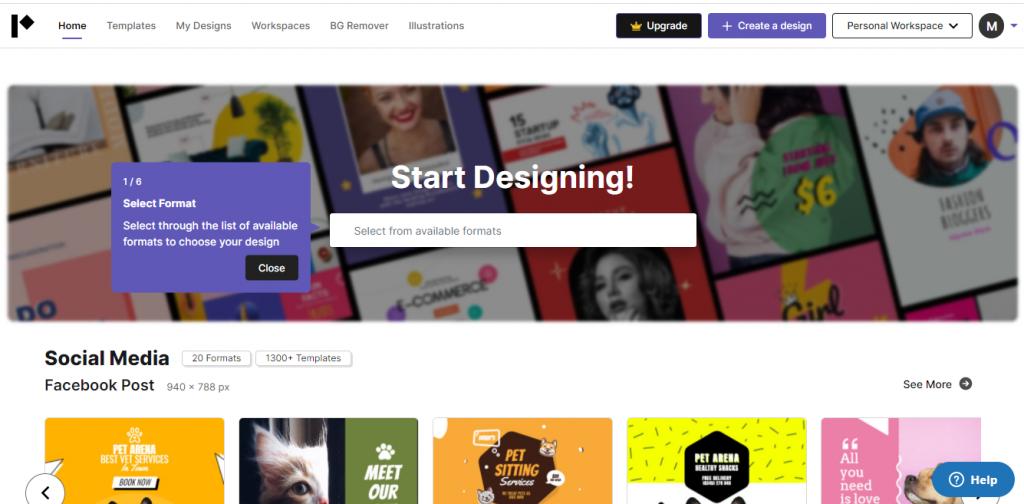 Pixelied design studio free and pro account