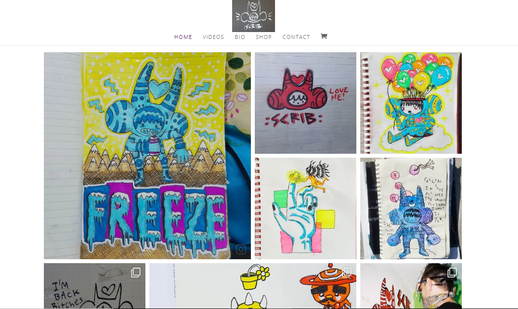 Web Design for Venice Street Artist & Animator